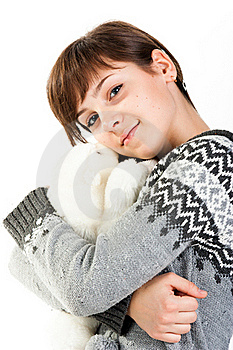 Portrait Of A Beautiful Girl With Toy Stock Photos - Image: 17699773