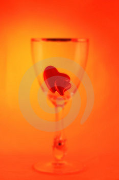 Glass With Hearts Stock Images - Image: 1770984