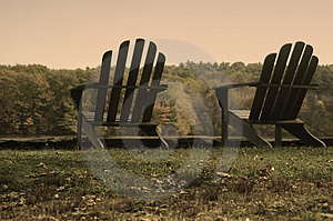 Aged Adirondack Chairs Royalty Free Stock Photography - Image: 1772827