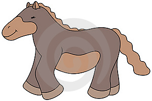 Vector Cartoon Horse Illustration Royalty Free Stock Photo - Image: 17703565