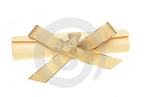 Parchment Scroll With Bow Royalty Free Stock Photos - Image: 17709398