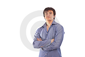 Adult Man With Charming Sight In Isolate Backgroun Stock Photo - Image: 17710000