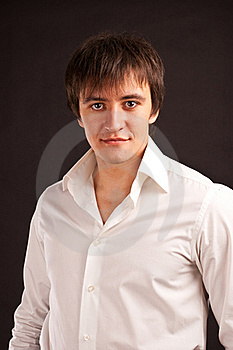 Adult Guy On Black Backdrop Stock Images - Image: 17710004