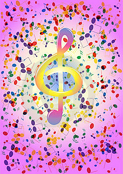 Treble Clef Royalty Free Stock Images - Image: 17711759
