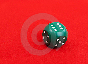 Green Plastic Dice Royalty Free Stock Photography - Image: 17711927