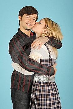 Kissing Loving Couple Stock Image - Image: 17717051