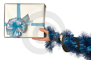 Present For Christmas Royalty Free Stock Photos - Image: 17717718