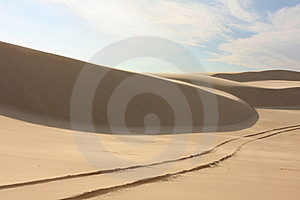 Sand Dune With Tyre Tracks Royalty Free Stock Image - Image: 17718466