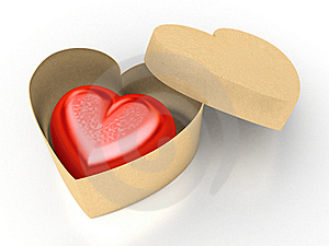 Red Heart In Box Royalty Free Stock Photography - Image: 17719457