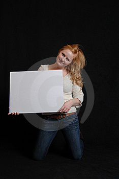 Woman With White Board Royalty Free Stock Photo - Image: 17720245