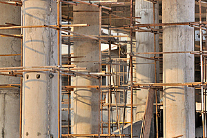 Scaffold And Unfinshed Pole In View Depth Stock Photo - Image: 17720880