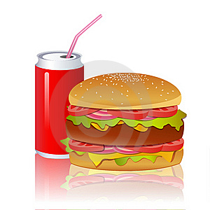 Burger With Cold Drink Royalty Free Stock Image - Image: 17721706