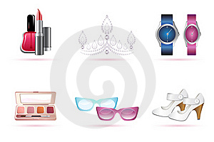 Make Up Accessories Royalty Free Stock Photography - Image: 17721737