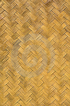Old Weave Bamboo Wall Stock Photo - Image: 17722460