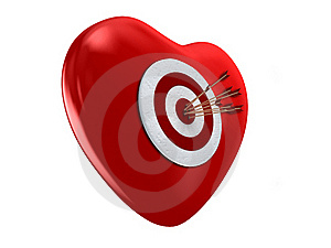 Red Heart And Target Stock Images - Image: 17722614