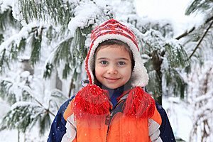 Smiling Girl In The Winter Park Royalty Free Stock Photography - Image: 17723817