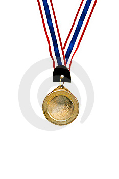 Blank Gold Medal On White Royalty Free Stock Image - Image: 17723846