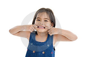 Cute Little Kid Making A Grimace Stock Image - Image: 17726501