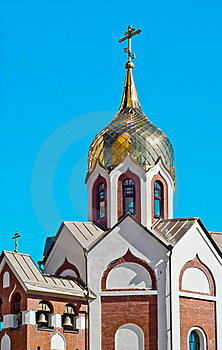 Domes Of Orthodox Church Royalty Free Stock Photography - Image: 17728607