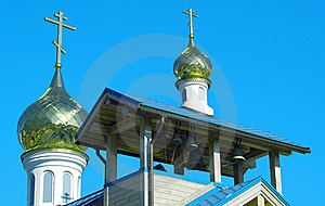 Domes Of Orthodox Church Stock Images - Image: 17728624