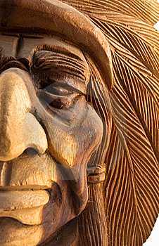 Wood Carved Indian Royalty Free Stock Image - Image: 17728726