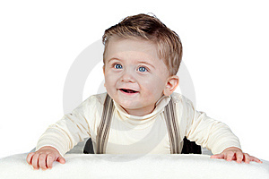 Beautiful Blond Baby With Blue Eyes Royalty Free Stock Image - Image: 17730086