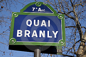 Quai Branly Street Sign Royalty Free Stock Images - Image: 17730109