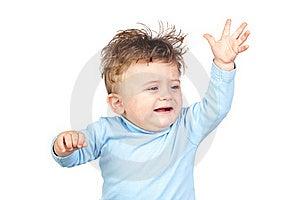 Sad Baby With Blue Eyes Royalty Free Stock Image - Image: 17730556