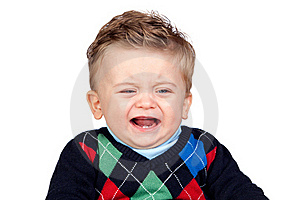 Sad Baby With Blue Eyes Royalty Free Stock Photography - Image: 17730877