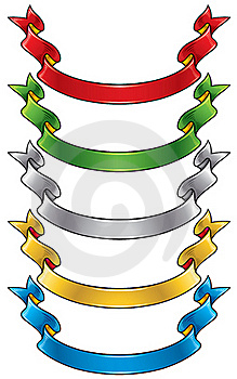 Color Ribbons Set Royalty Free Stock Images - Image: 17730949