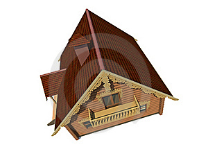 Ecological Wooden House Royalty Free Stock Photos - Image: 17731268
