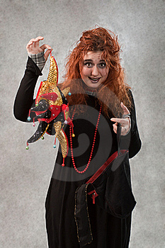 Crazy Young Woman Royalty Free Stock Image - Image: 17732266