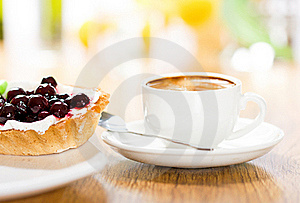 Fruit Dessert And Coffee Royalty Free Stock Images - Image: 17732959