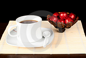 A Cup Of Tea With Sweets. Stock Image - Image: 17732981