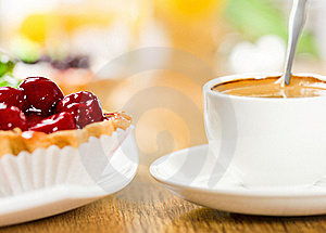 Fruit Dessert And Coffee Stock Image - Image: 17733111