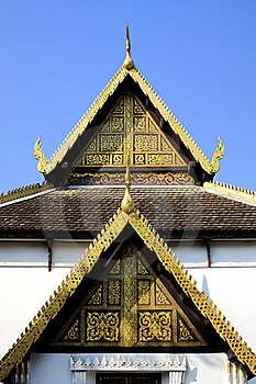 Gable Unique Architecture Design Lanna Stock Photos - Image: 17736013