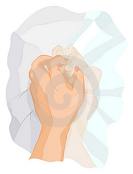 The Crumpled Reflexion Royalty Free Stock Photography - Image: 17737727
