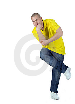 Cool Dancer Man Royalty Free Stock Photography - Image: 17737927