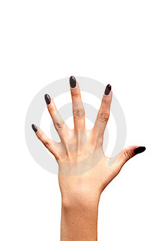 Back Left Hand Fife Fingers Stock Image - Image: 17738571