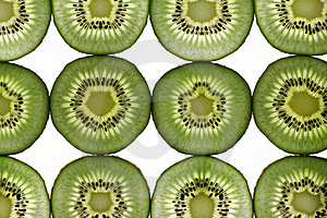 Twelve Segments Of A Kiwi Fruit Royalty Free Stock Images - Image: 17738579
