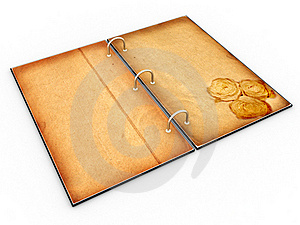 Open The Menu - Diary Made Of Leather №2 Stock Images - Image: 17740624