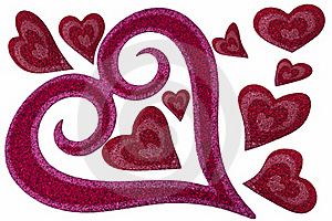 Valentine's Hearts Royalty Free Stock Images - Image: 17744779