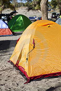 Campsite With Tent Stock Photography - Image: 17745172