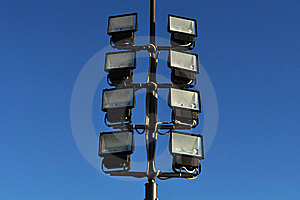 Floodlight And Blue Sky Royalty Free Stock Photo - Image: 17745655