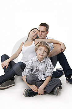 Family Lifestyle Portrait Royalty Free Stock Images - Image: 17745799
