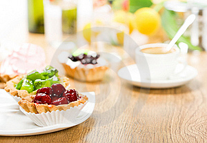 Fruit Dessert And Coffee Stock Photo - Image: 17745930