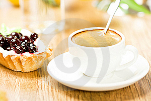 Fruit Dessert And Coffee Royalty Free Stock Photography - Image: 17745967