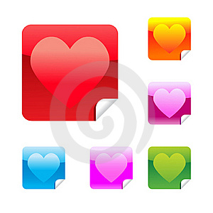 Heart Stickers Royalty Free Stock Photo - Image: 17745995