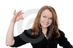 Beautiful Woman Holding Empty White Board Stock Photo - Image: 17746200