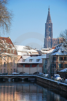 The Winter On Strasbourg Quay Stock Photography - Image: 17747062